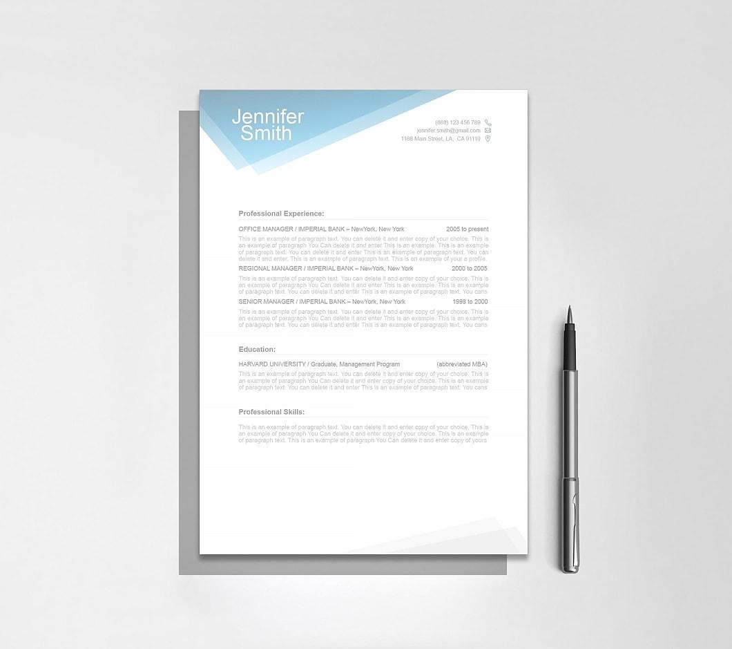 Resumeway Free Resume Template 1100040