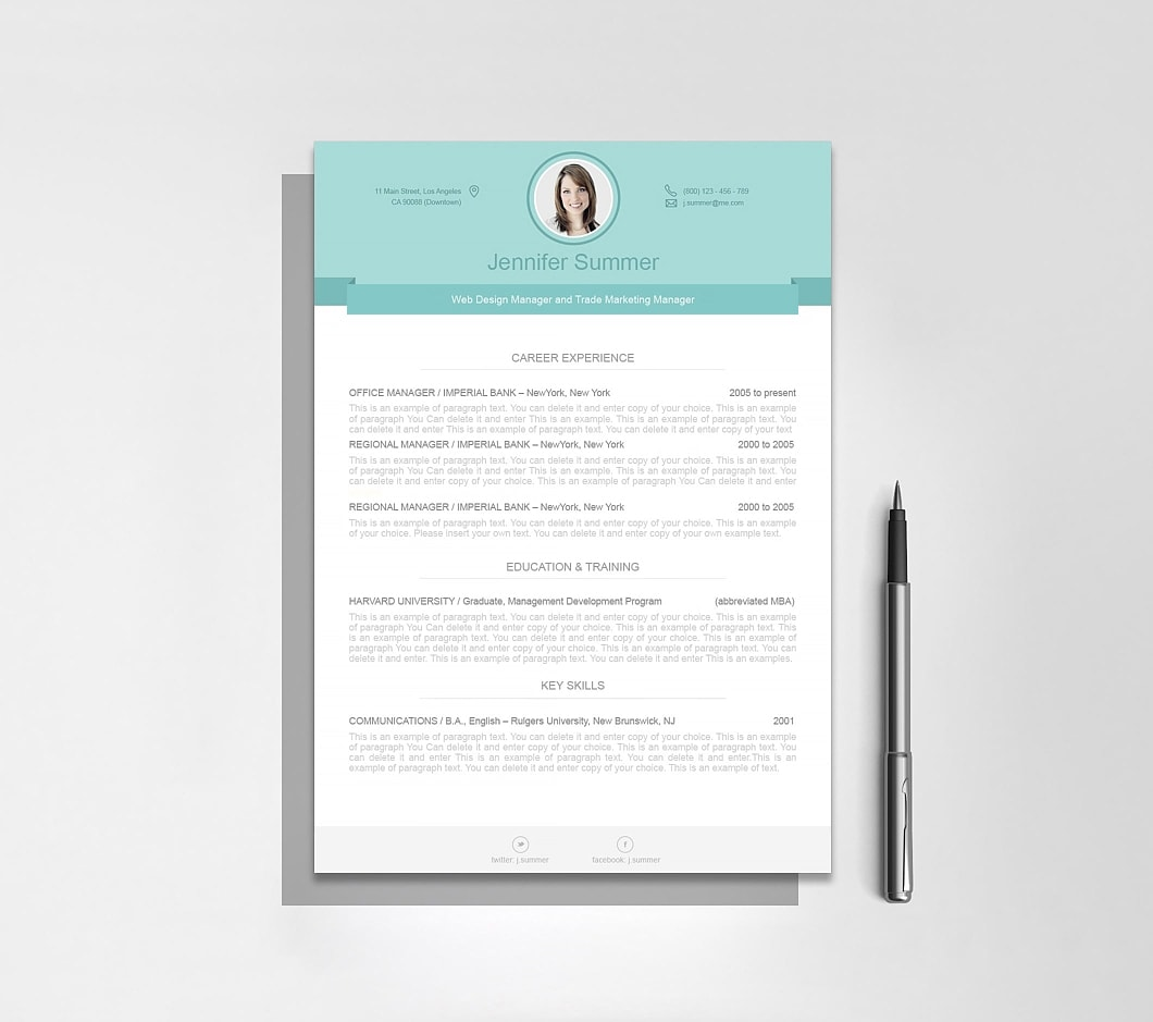 Resumeway Modern Resume Template 110470