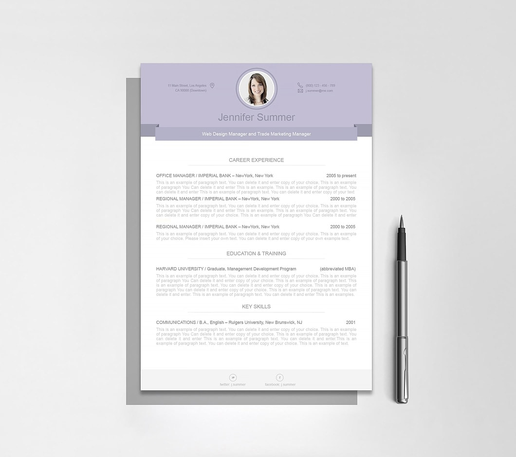 Resumeway Modern Resume Template 110490