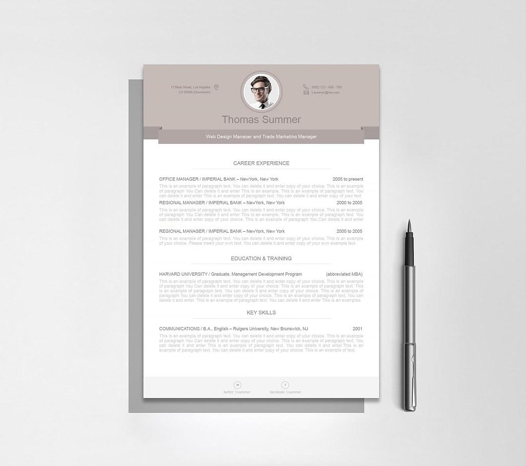 Resumeway Modern Resume Template 110500