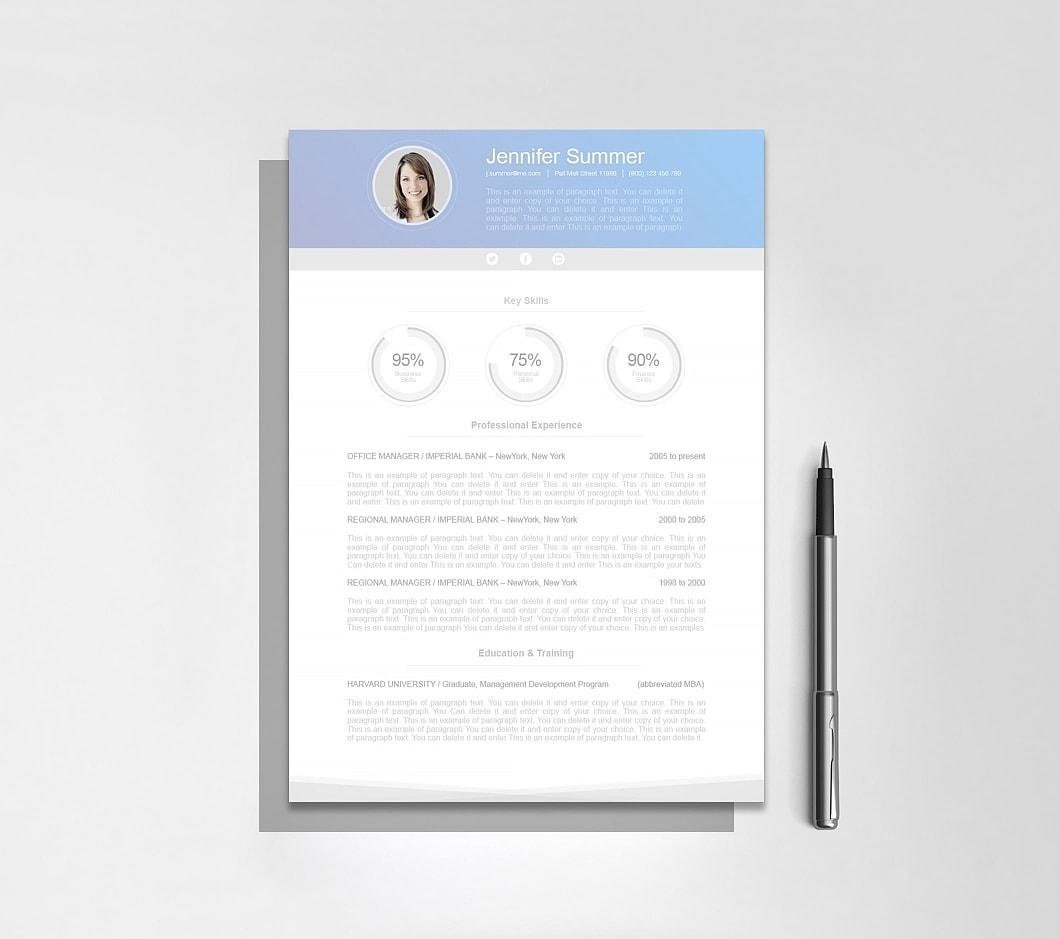 Resumeway Modern Resume Template 110630