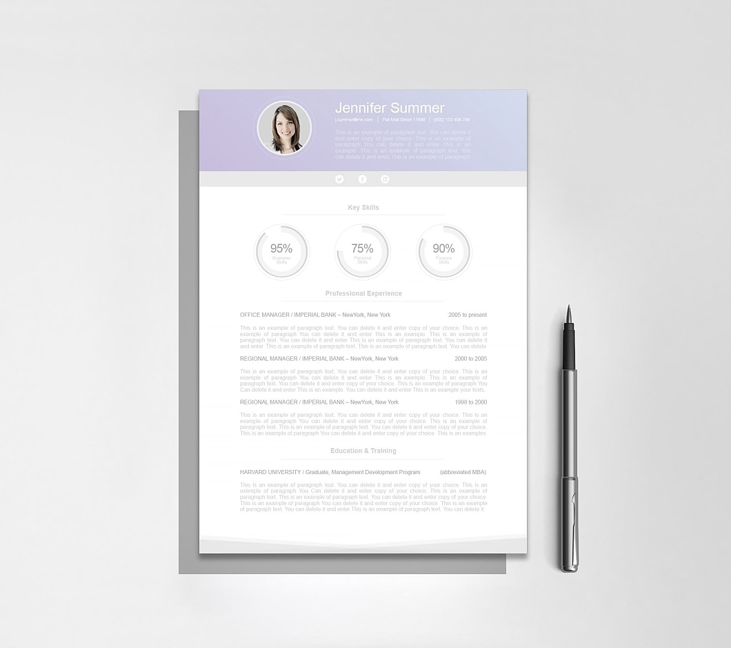 Resumeway Modern Resume Template 110640