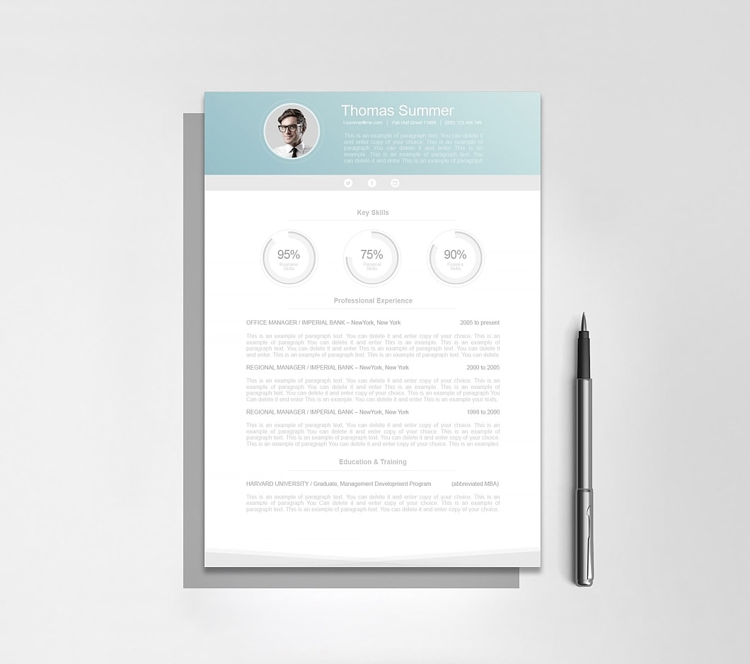 Resumeway Modern Resume Template 110660