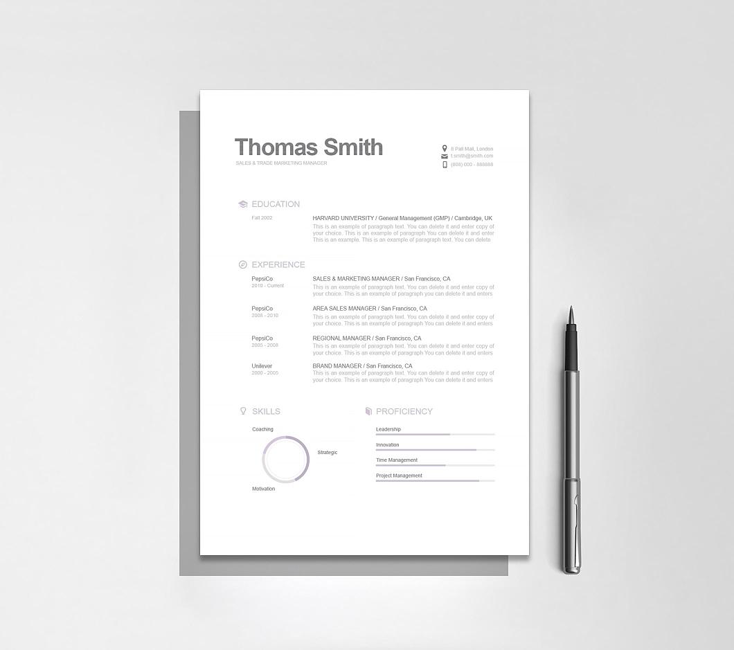 Resumeway Modern Resume Template 110800
