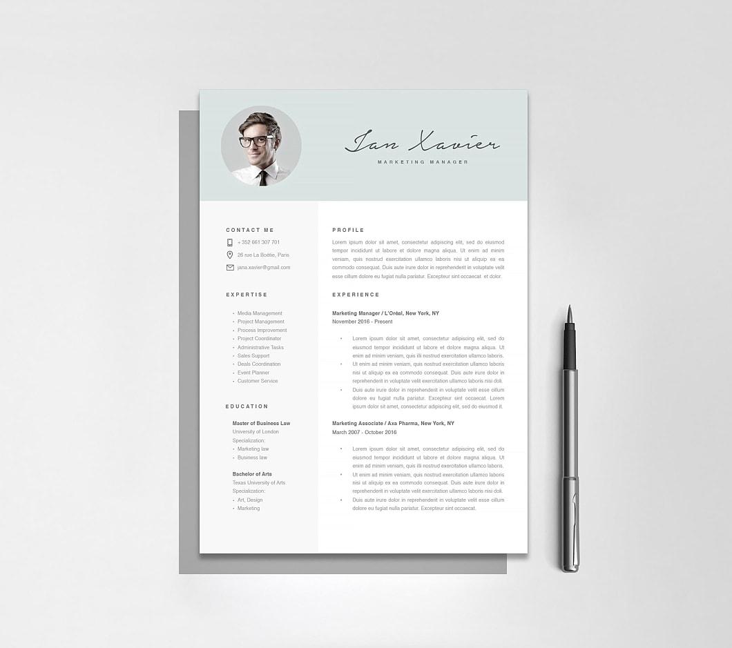 Resumeway Modern Resume Template 120070