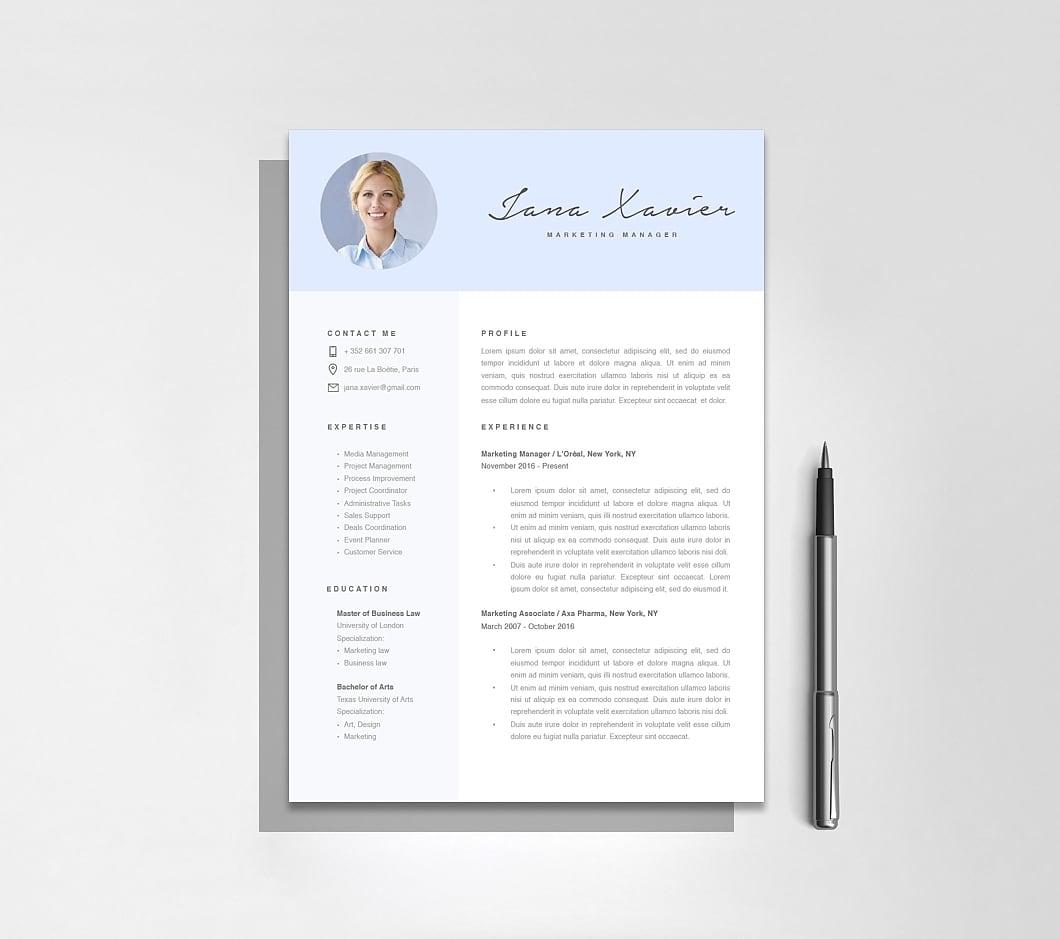 Resumeway Modern Resume Template 120080