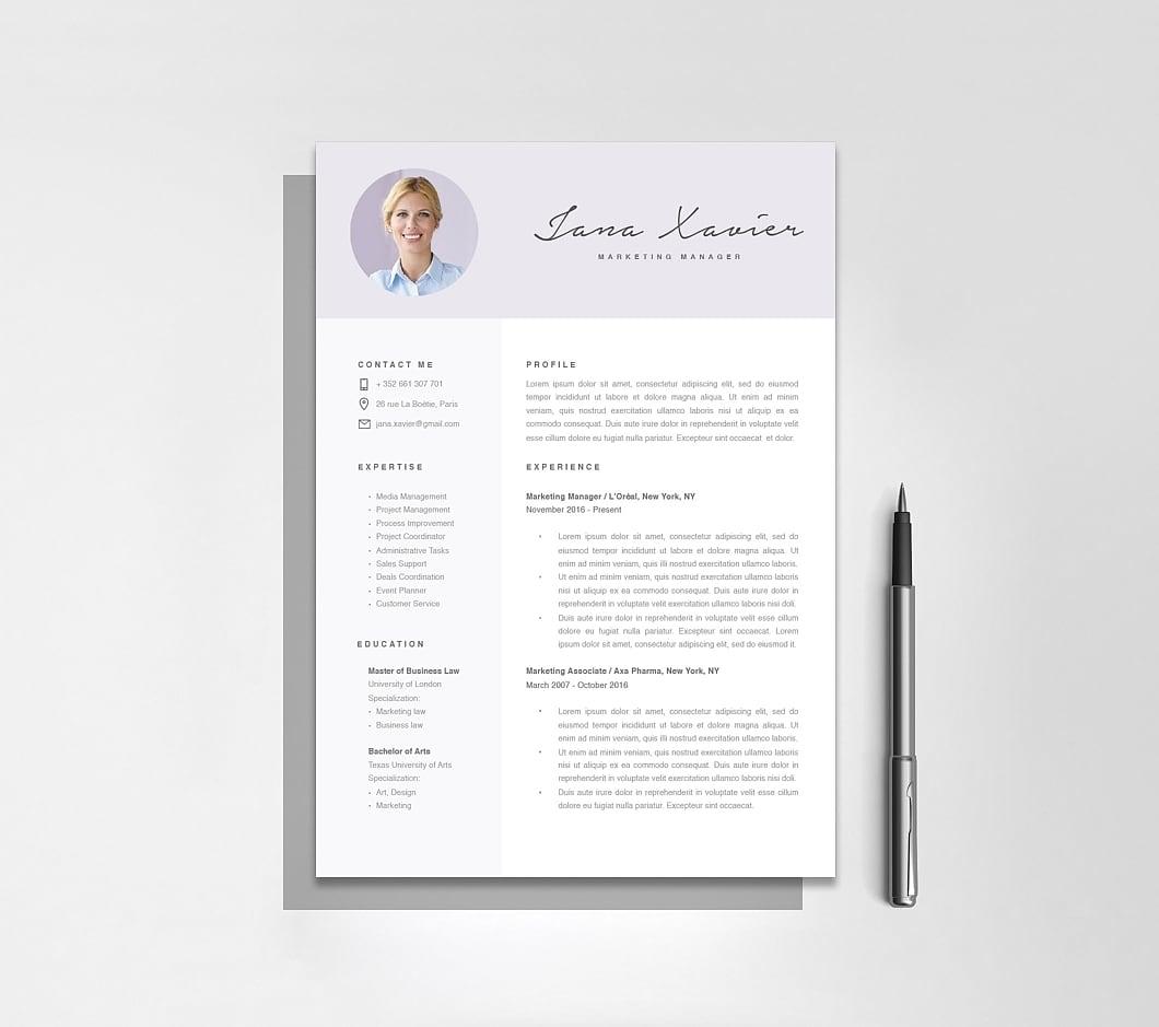 Resumeway Modern Resume Template 120090