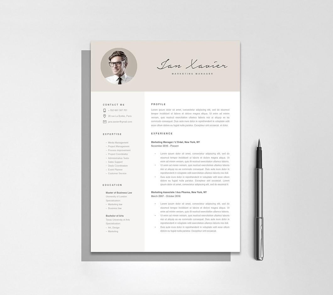 Resumeway Modern Resume Template 120100