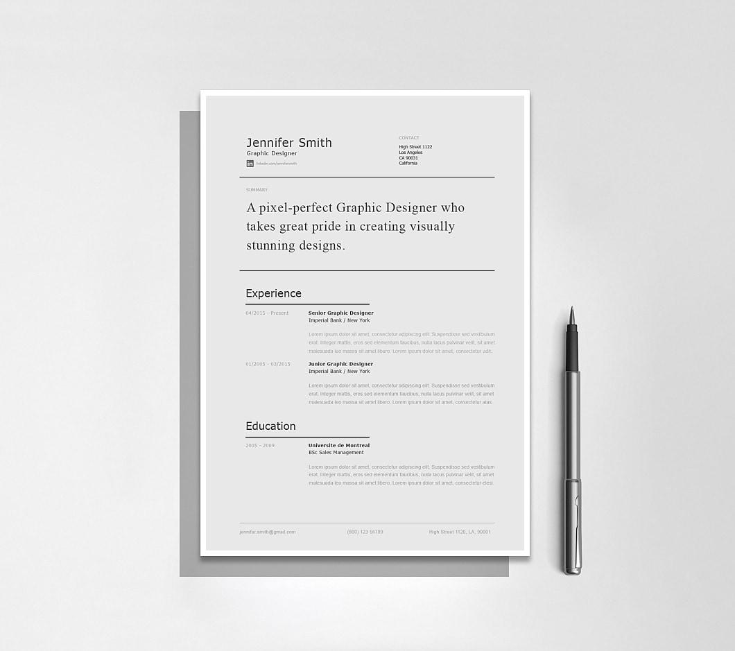 Resumeway Modern Resume Template 120230