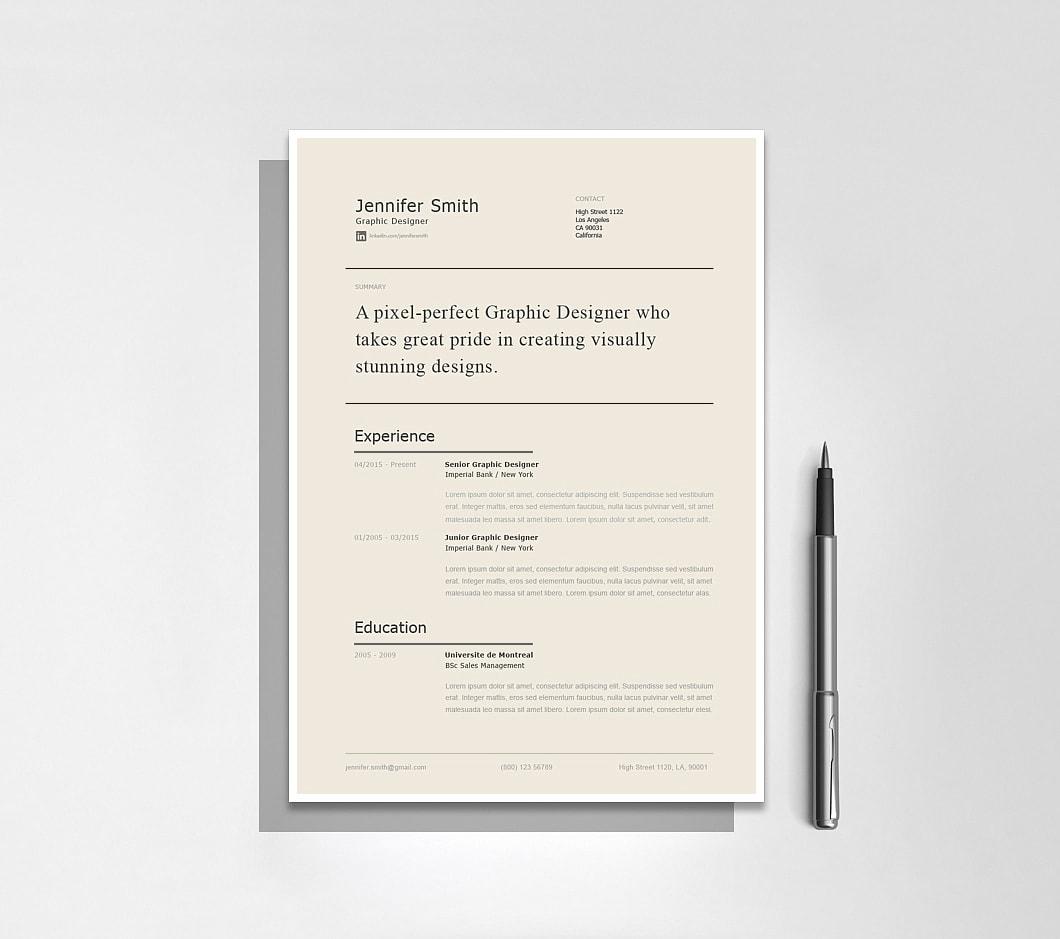 Resumeway Modern Resume Template 120240