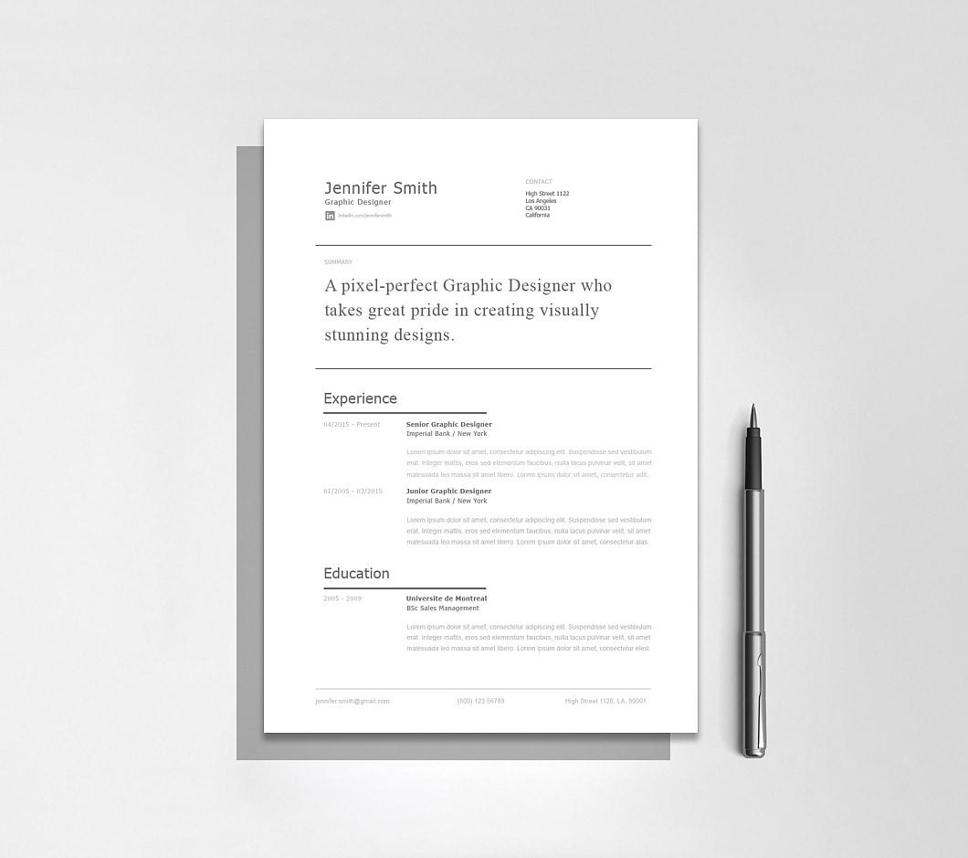 Resumeway Modern Resume Template 120250