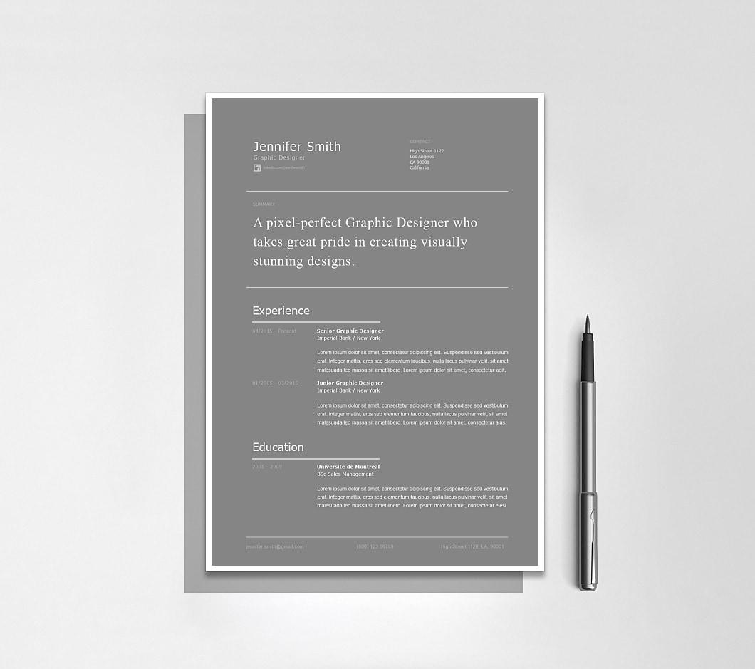 Resumeway Modern Resume Template 120260