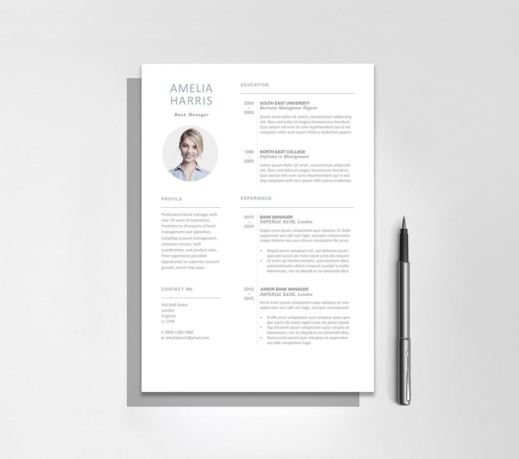 Resumeway Modern Resume Template 120430