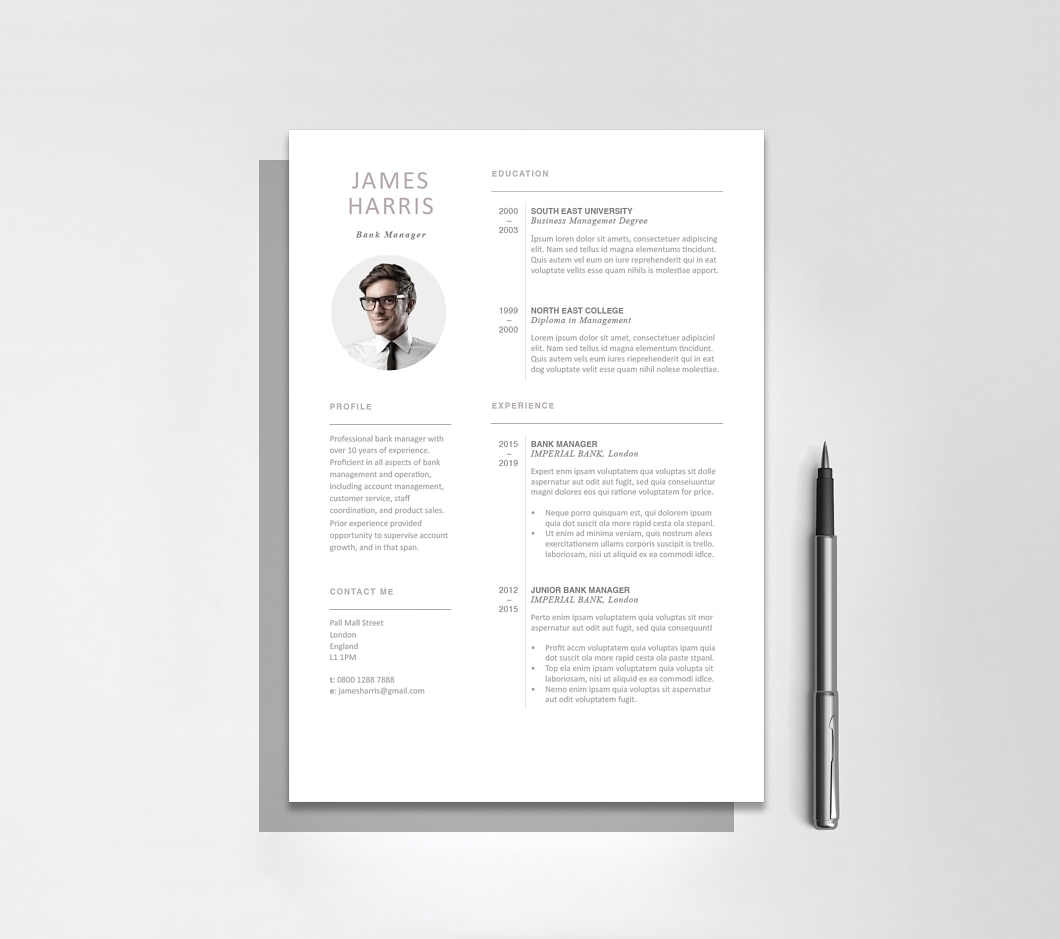 Resumeway Modern Resume Template 120440, editable in Microsoft Word and iWork Pages.