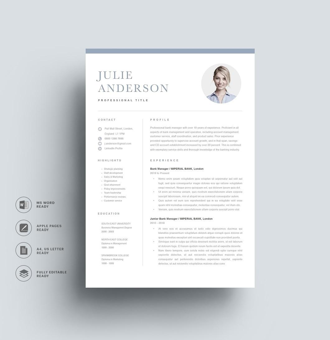 Resumeway Modern Resume Template 120510