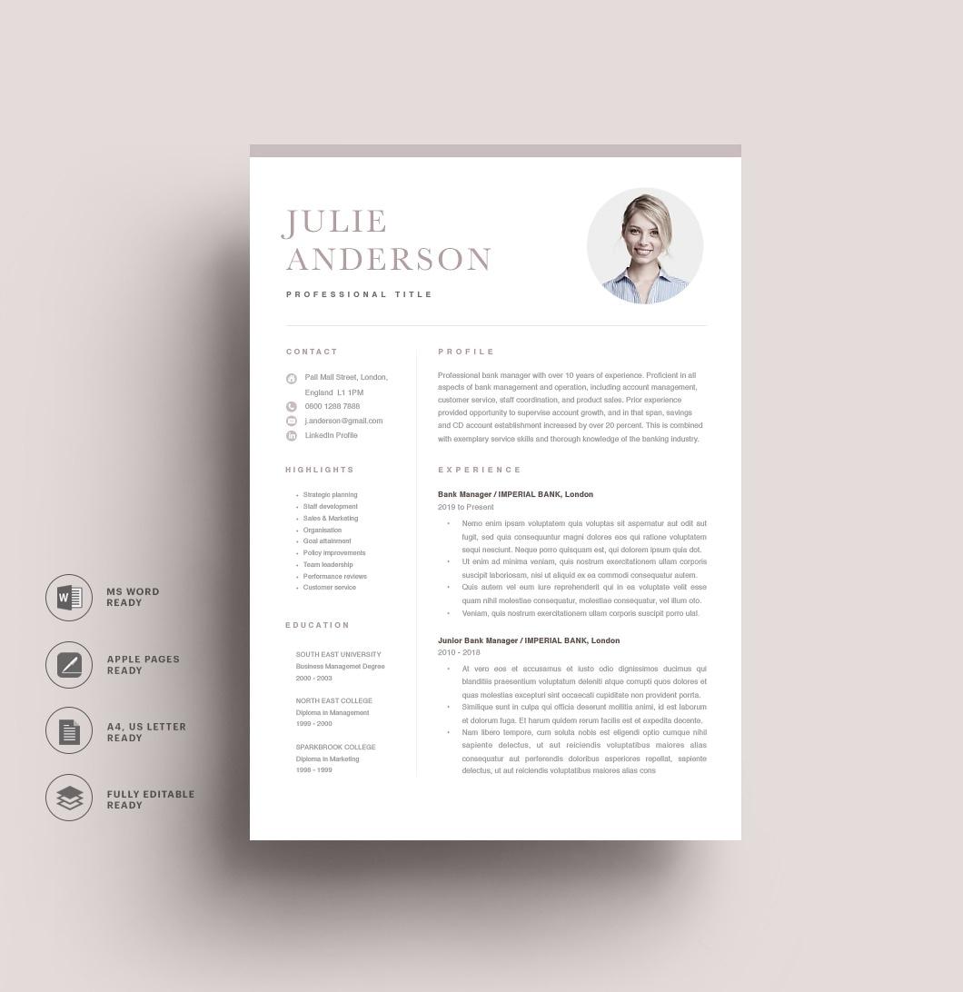 Resumeway Modern Resume Template 120530