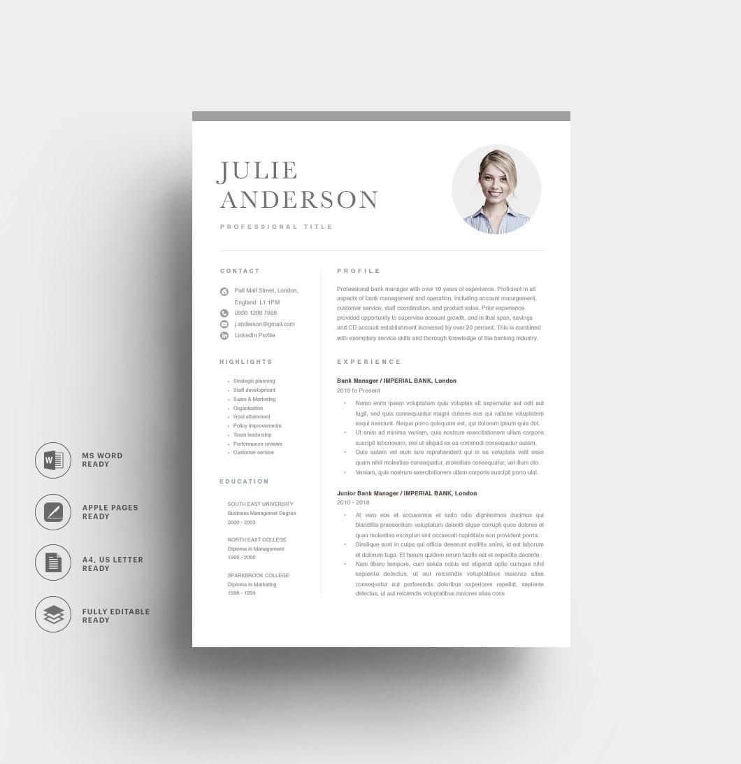Resumeway Modern Resume Template 120540