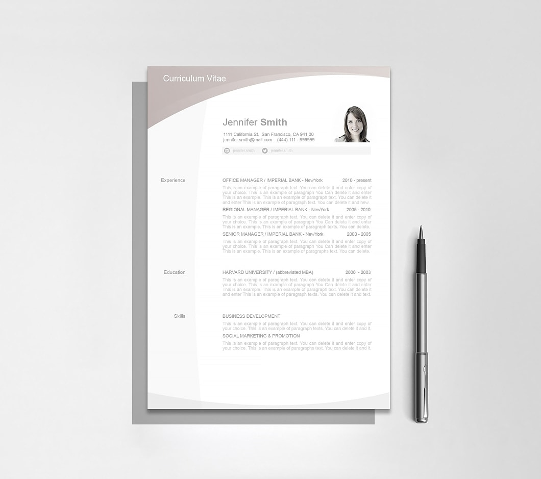 Resumeway Resume Template 105010