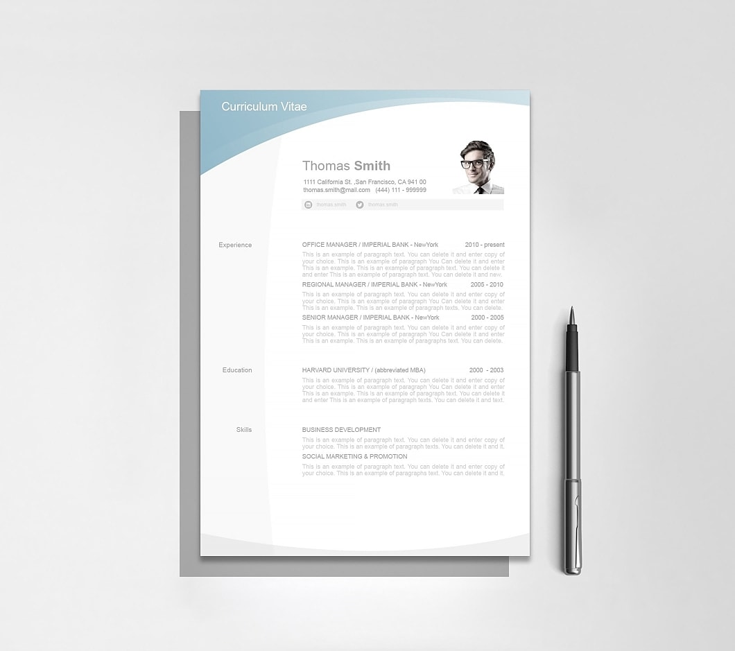 Resumeway Resume Template 105020