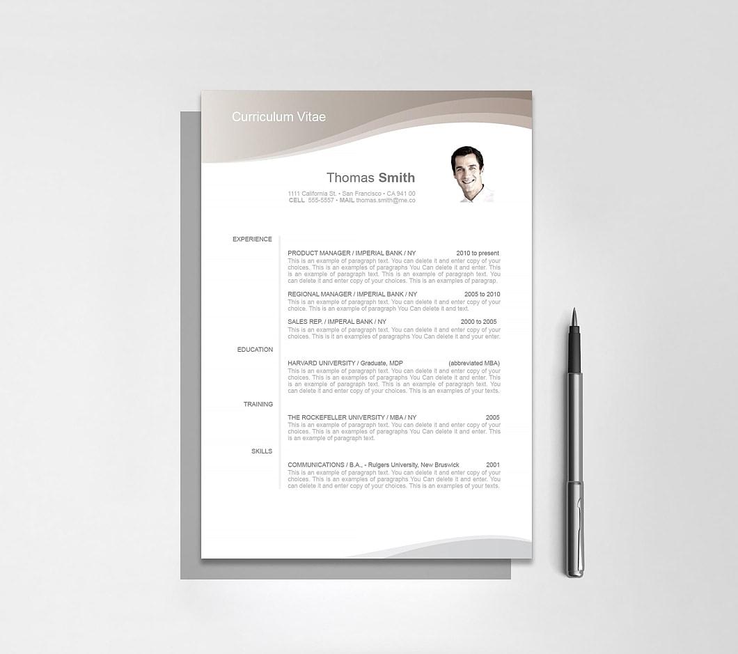 Resumeway Resume Template 106060