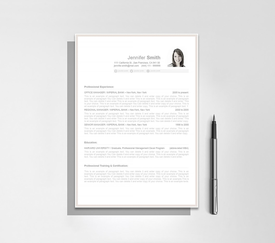 Resumeway Resume Template 106070