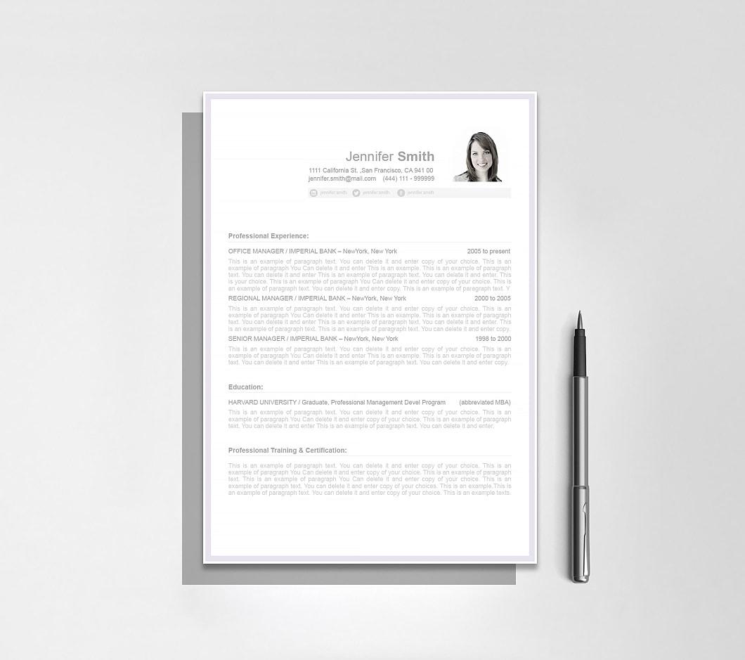 Resumeway Resume Template 106080