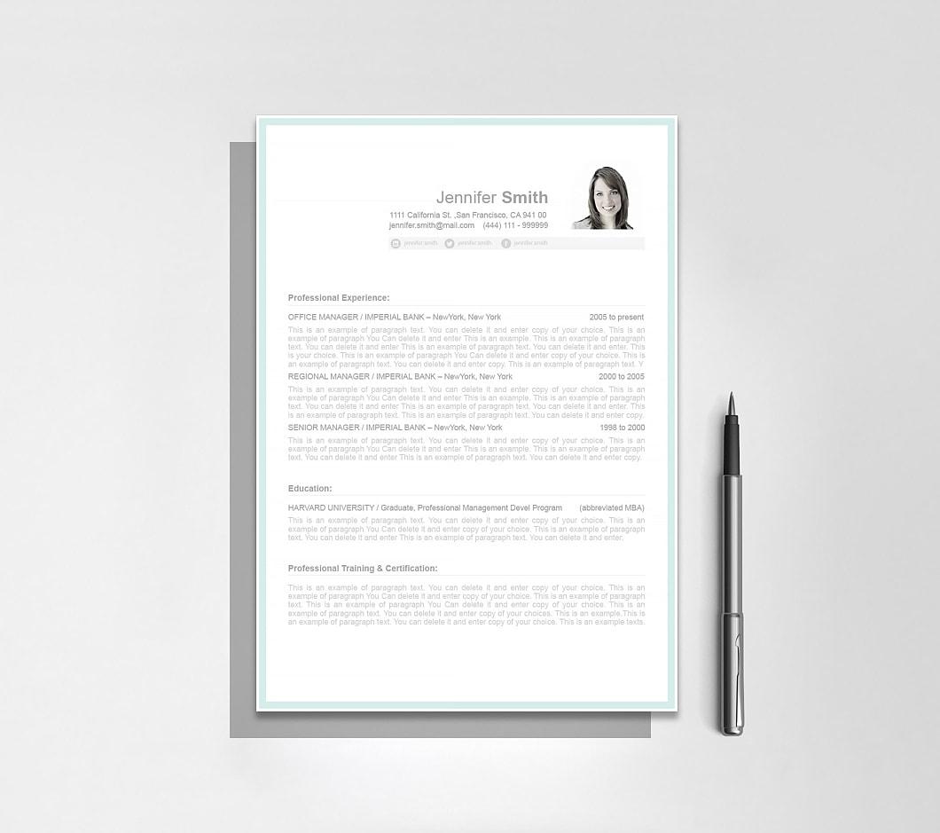 Resumeway Resume Template 107000