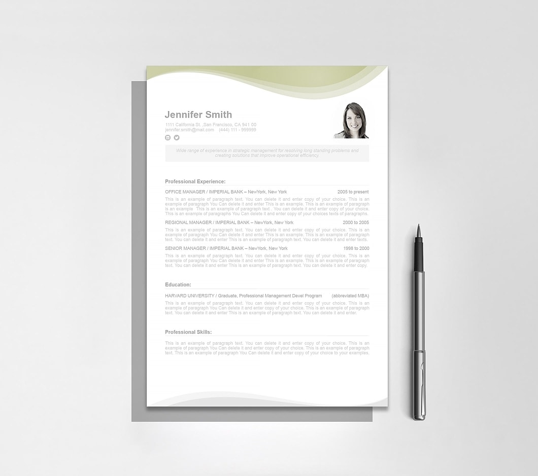 Resumeway Resume Template 107050