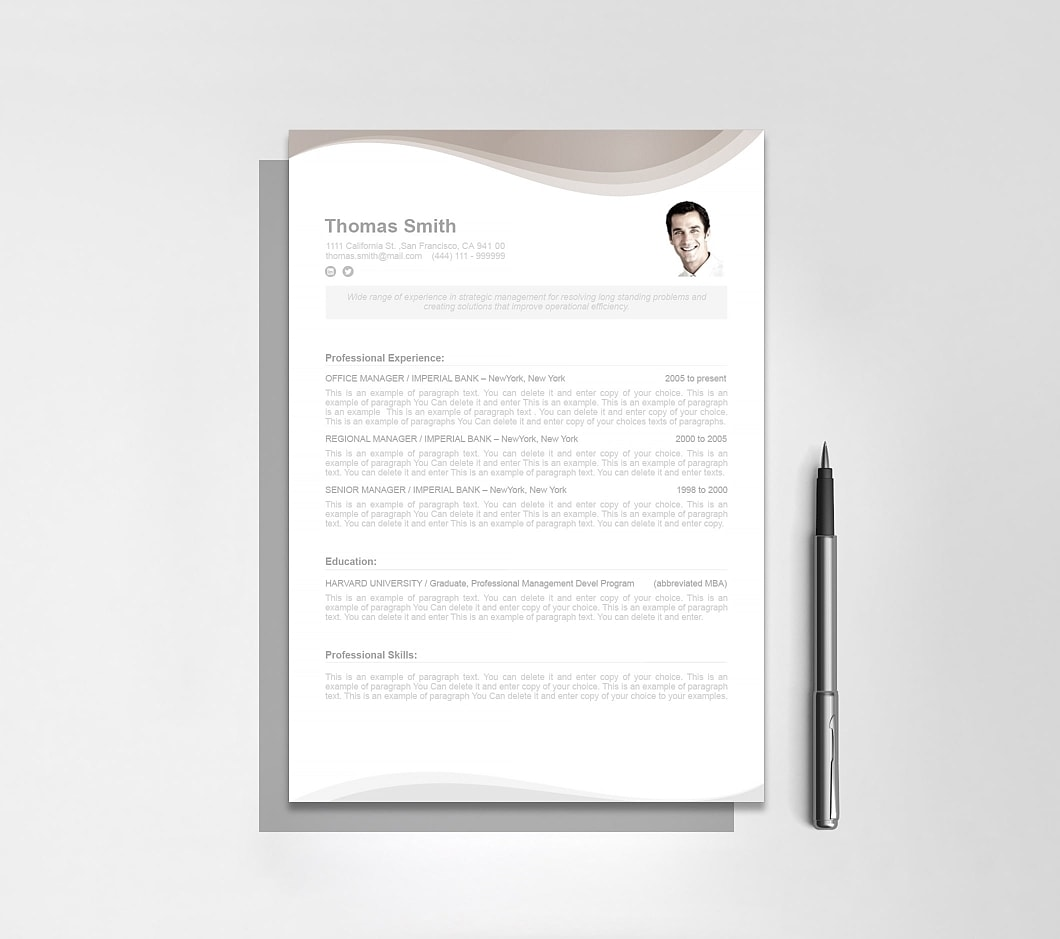 Resumeway Resume Template 107060