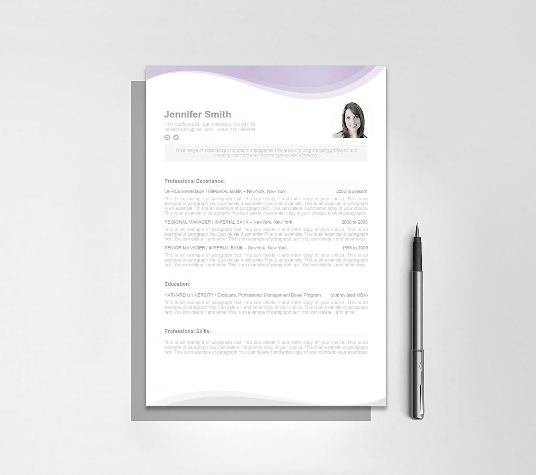 Resumeway Resume Template 107070