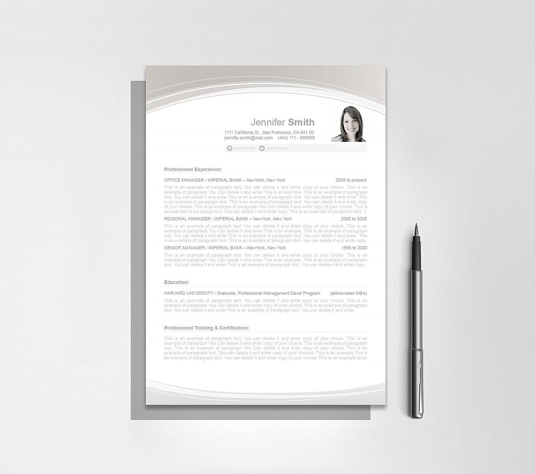 Resumeway Resume Template 108040