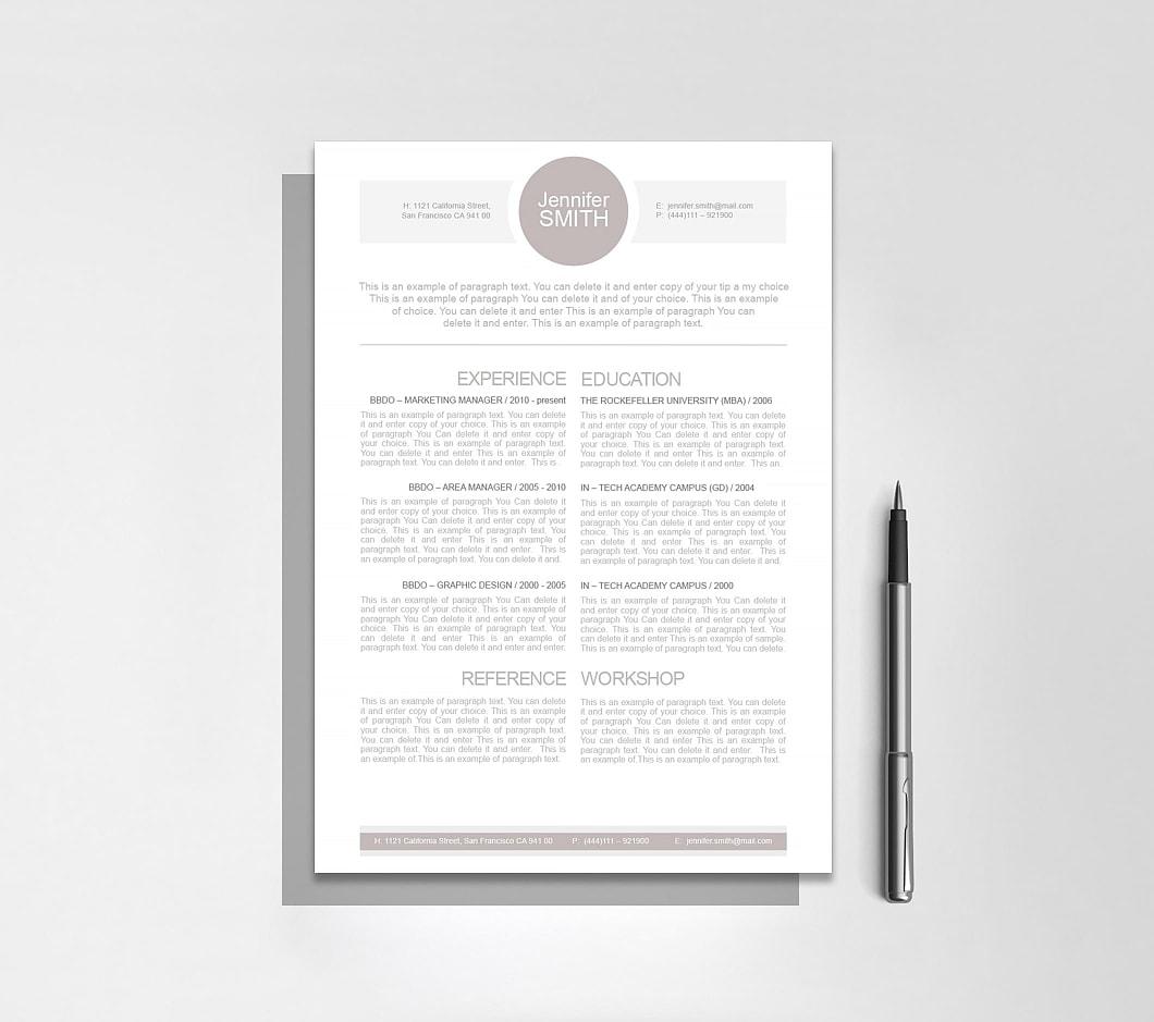 Resumeway Resume Template 110010