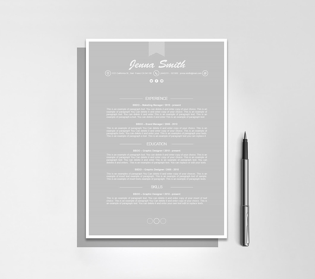 Resumeway Resume Template 110190