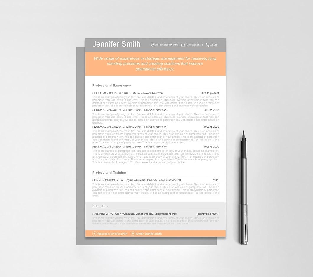 Resumeway Resume Template 110360
