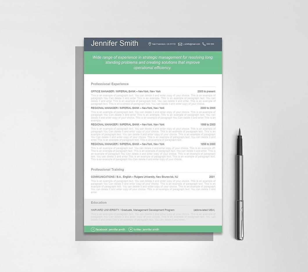 Resumeway Resume Template 110380
