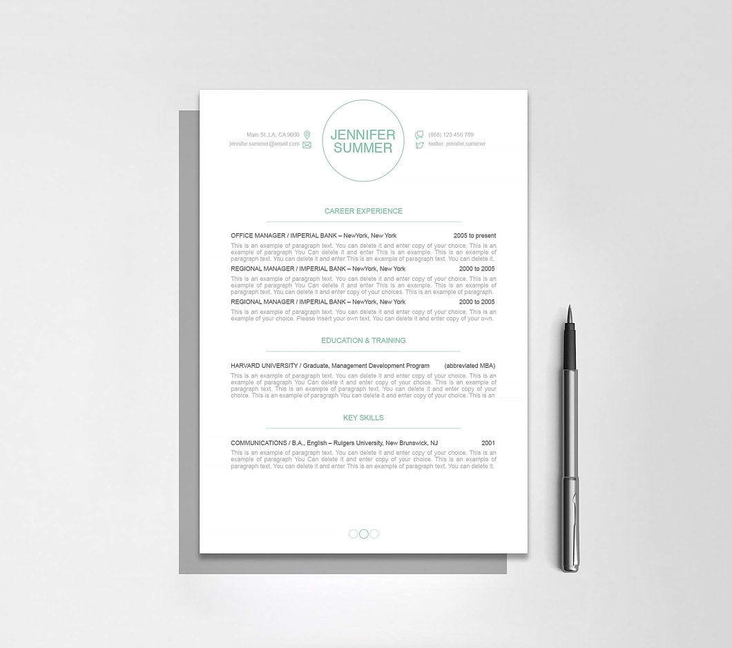 Resumeway Resume Template 110390