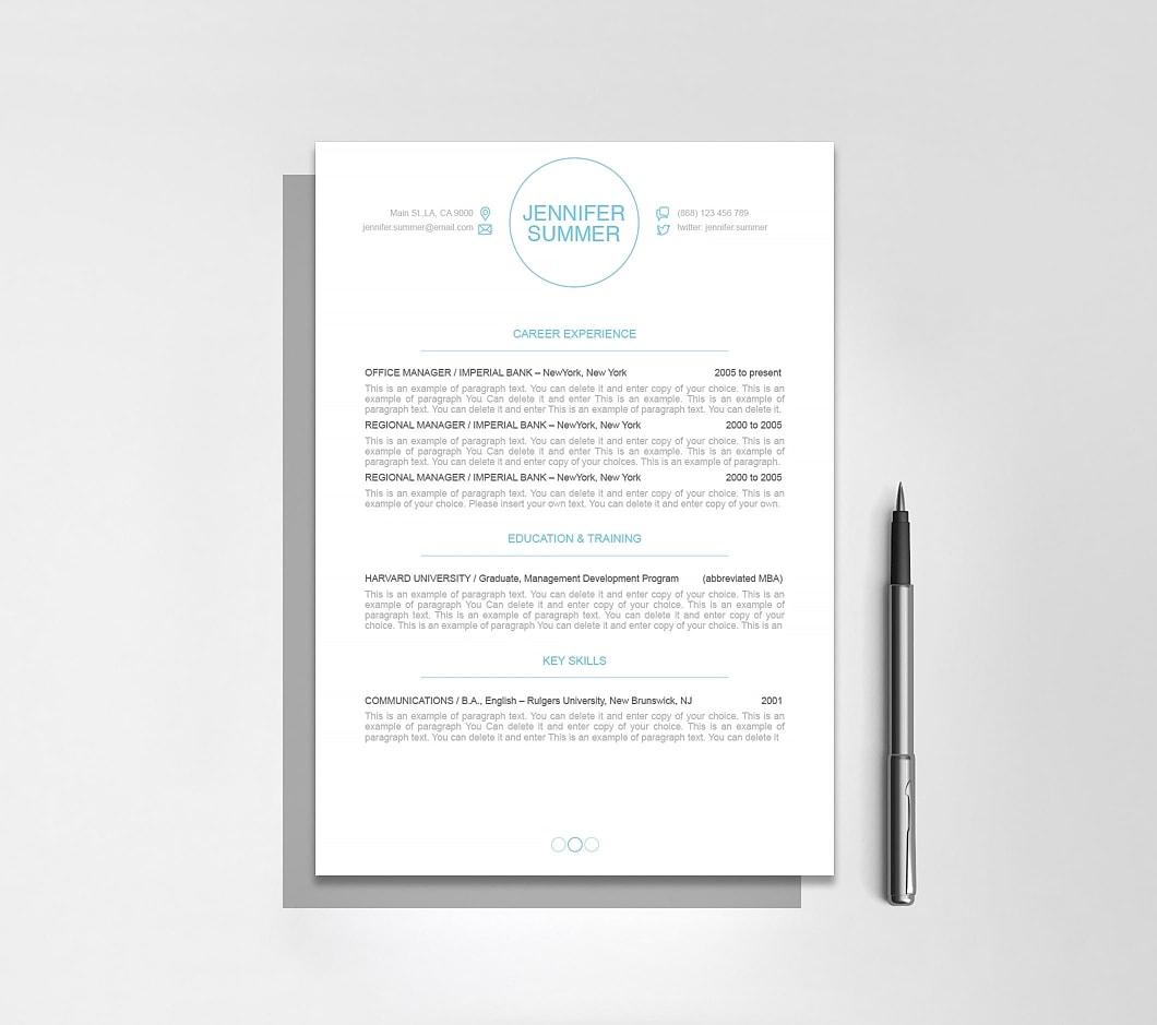 Resumeway Resume Template 110400