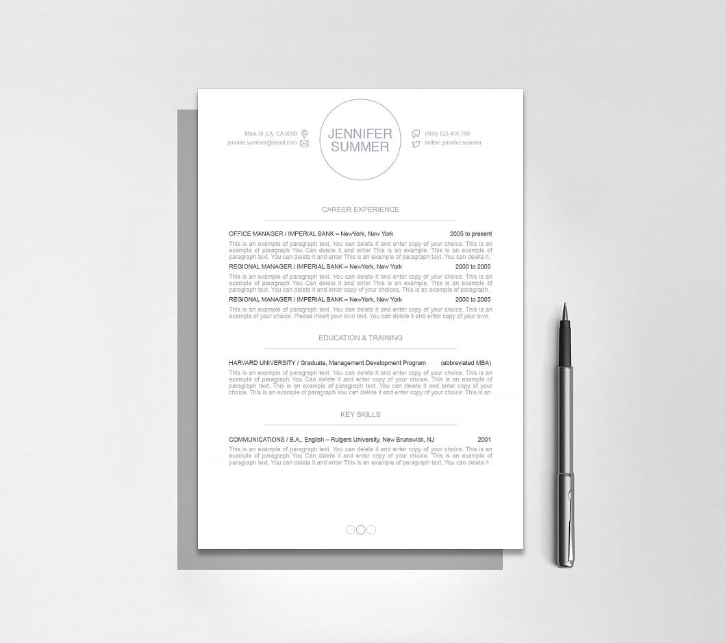 Resumeway Resume Template 110410