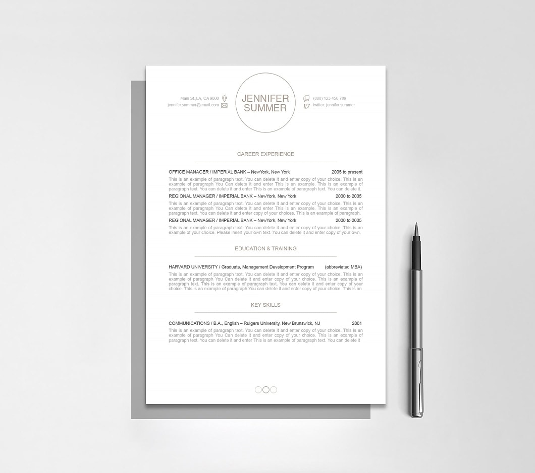 Resumeway Resume Template 110420