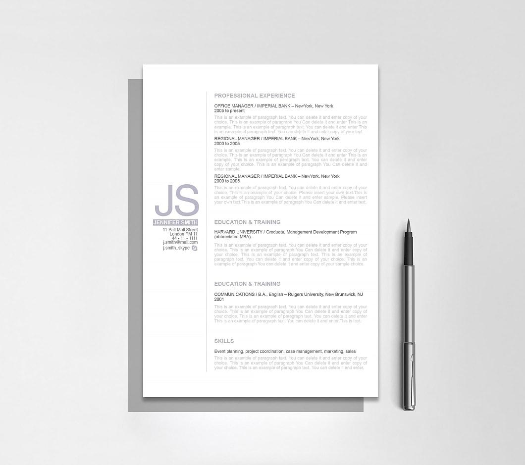 Resumeway Resume Template 110520