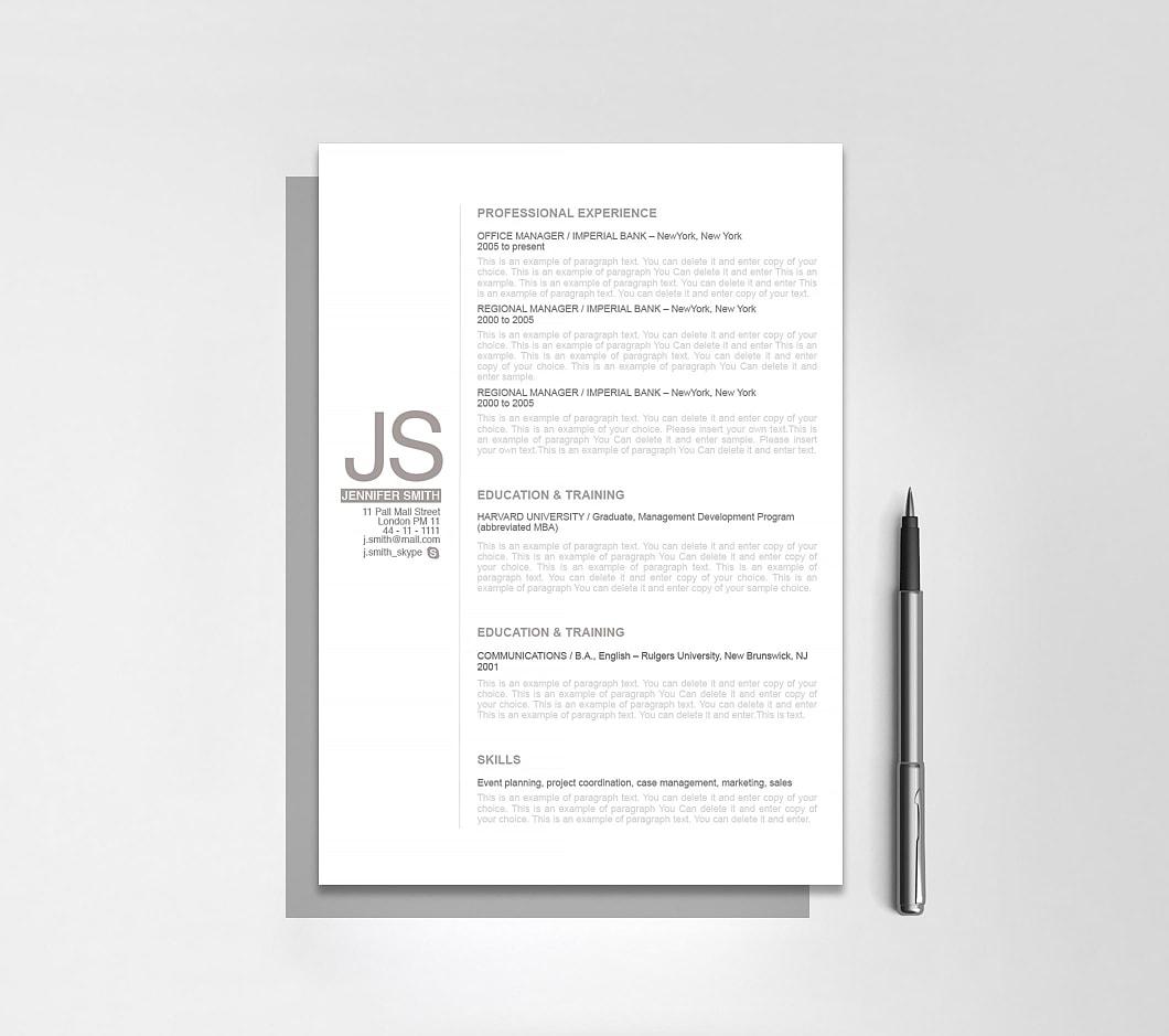 Resumeway Resume Template 110530