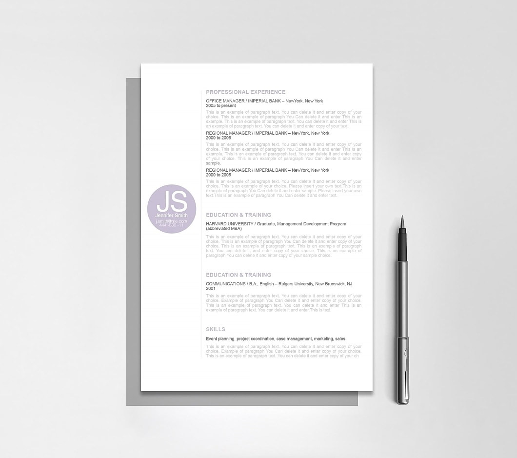 Resumeway Resume Template 110550