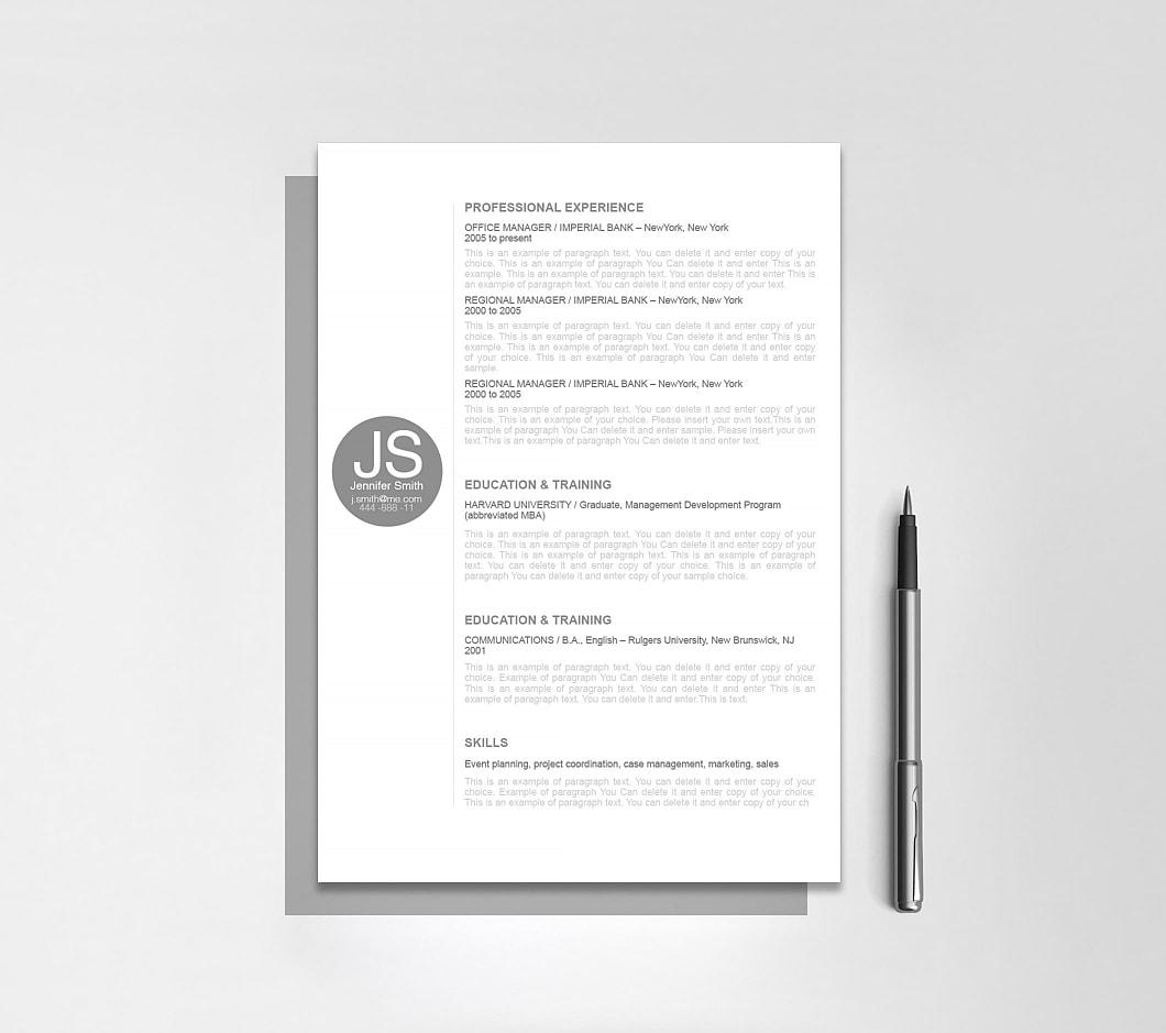 Resumeway Resume Template 110580