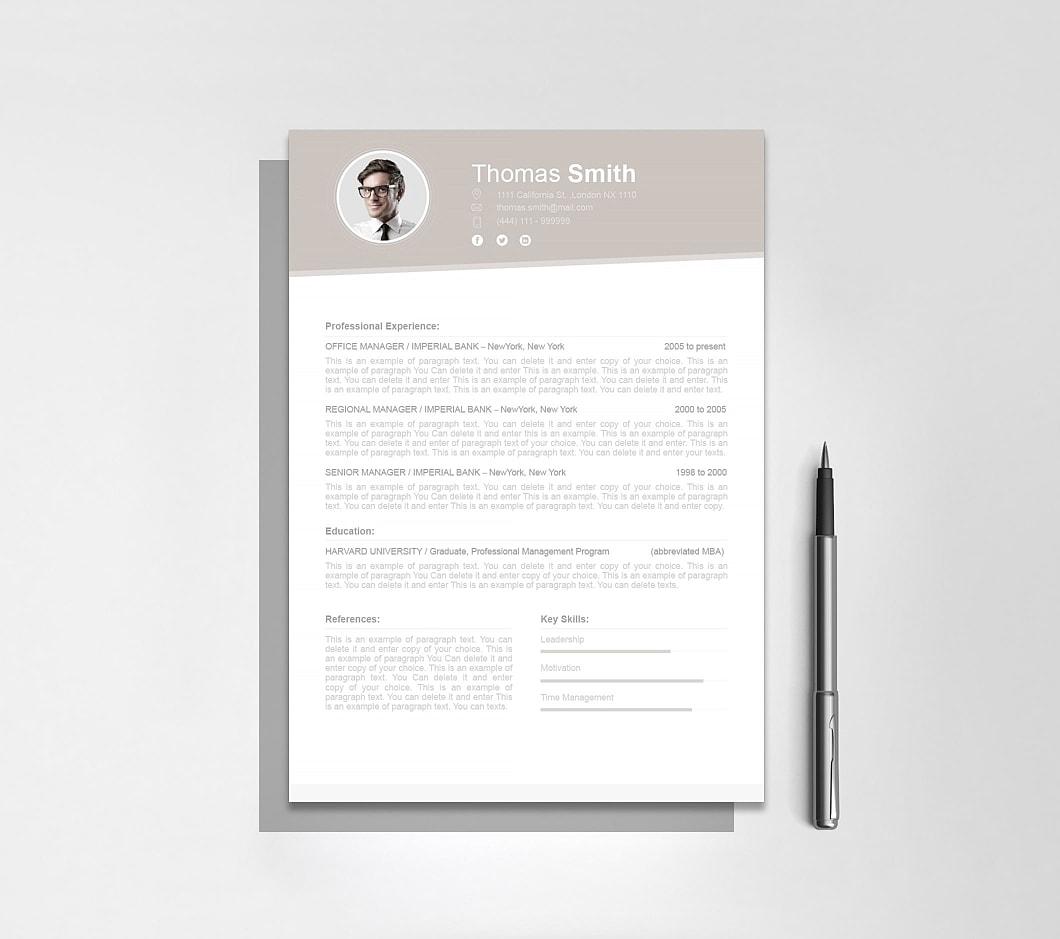 Resumeway Resume Template 110680