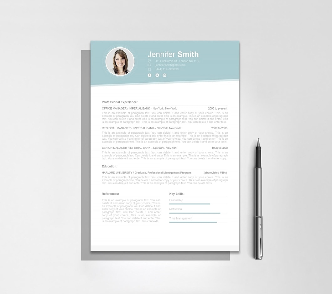Resumeway Resume Template 110690