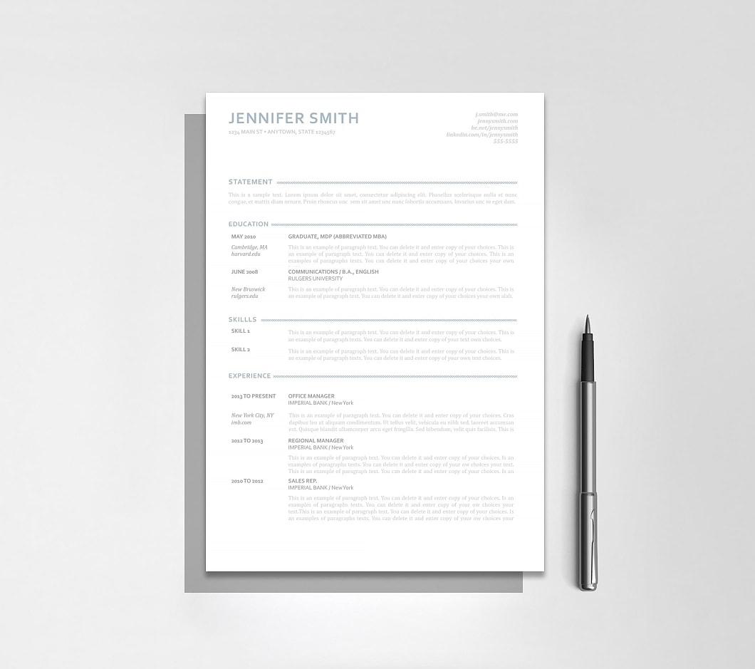 Resumeway Resume Template 110890