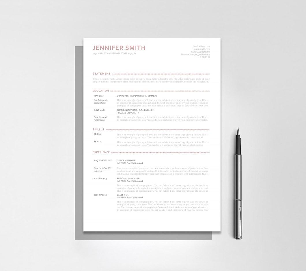 Resumeway Resume Template 110900