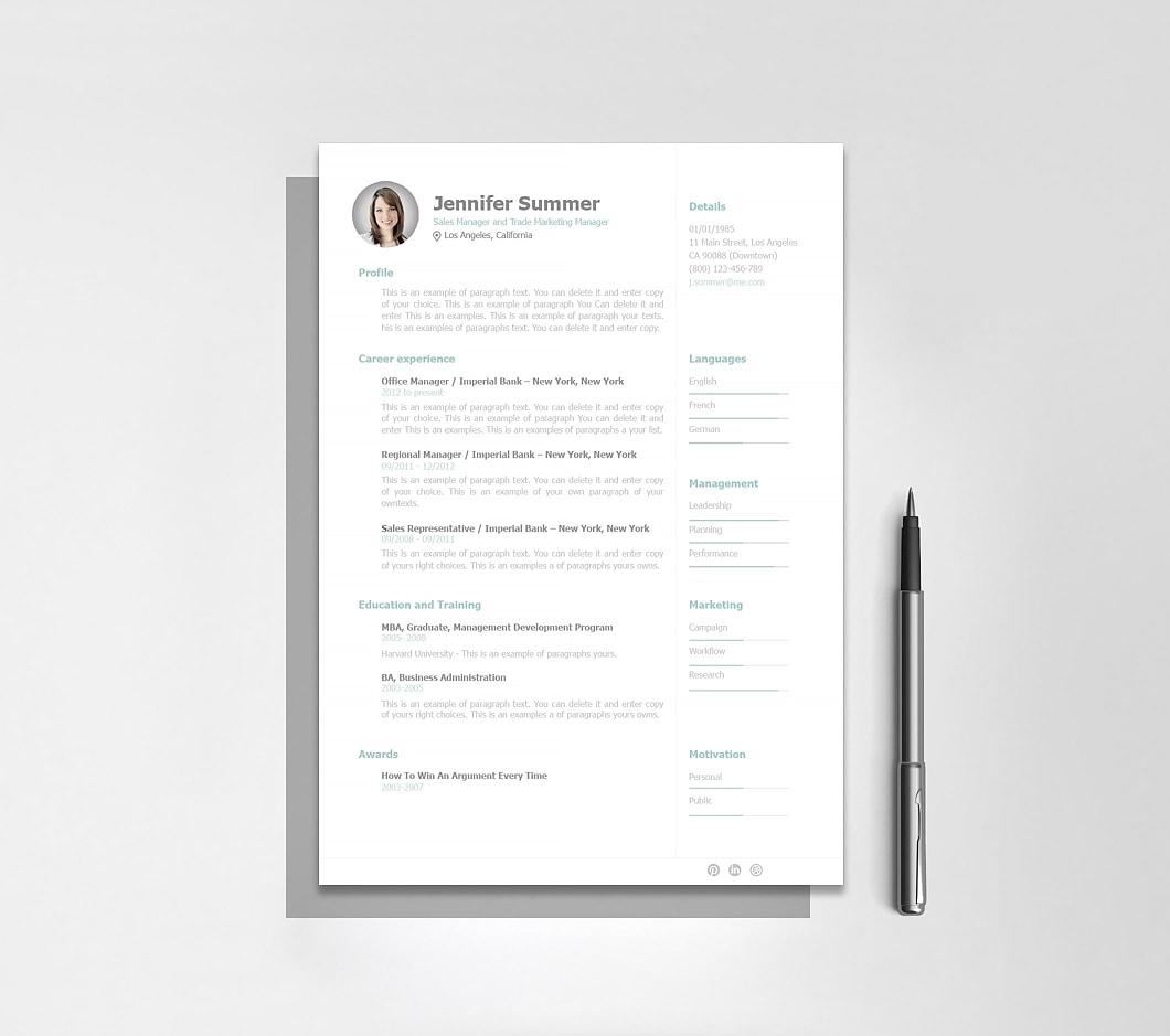 Resumeway Resume Template 110910