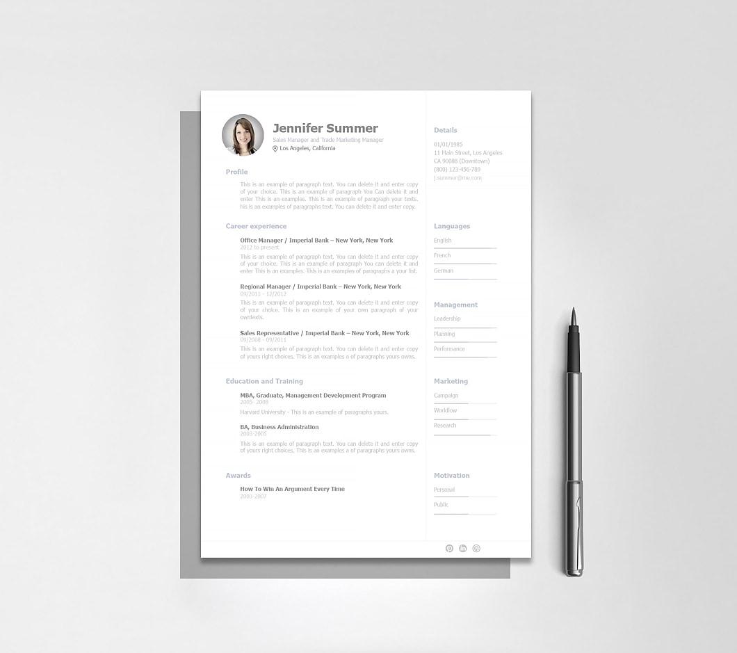 Resumeway Resume Template 110920