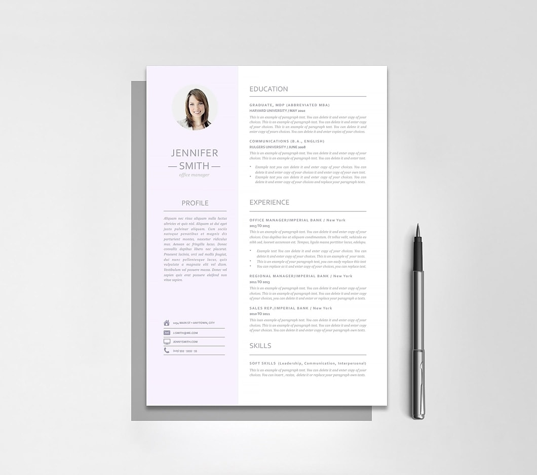 Resumeway Resume Template 110950
